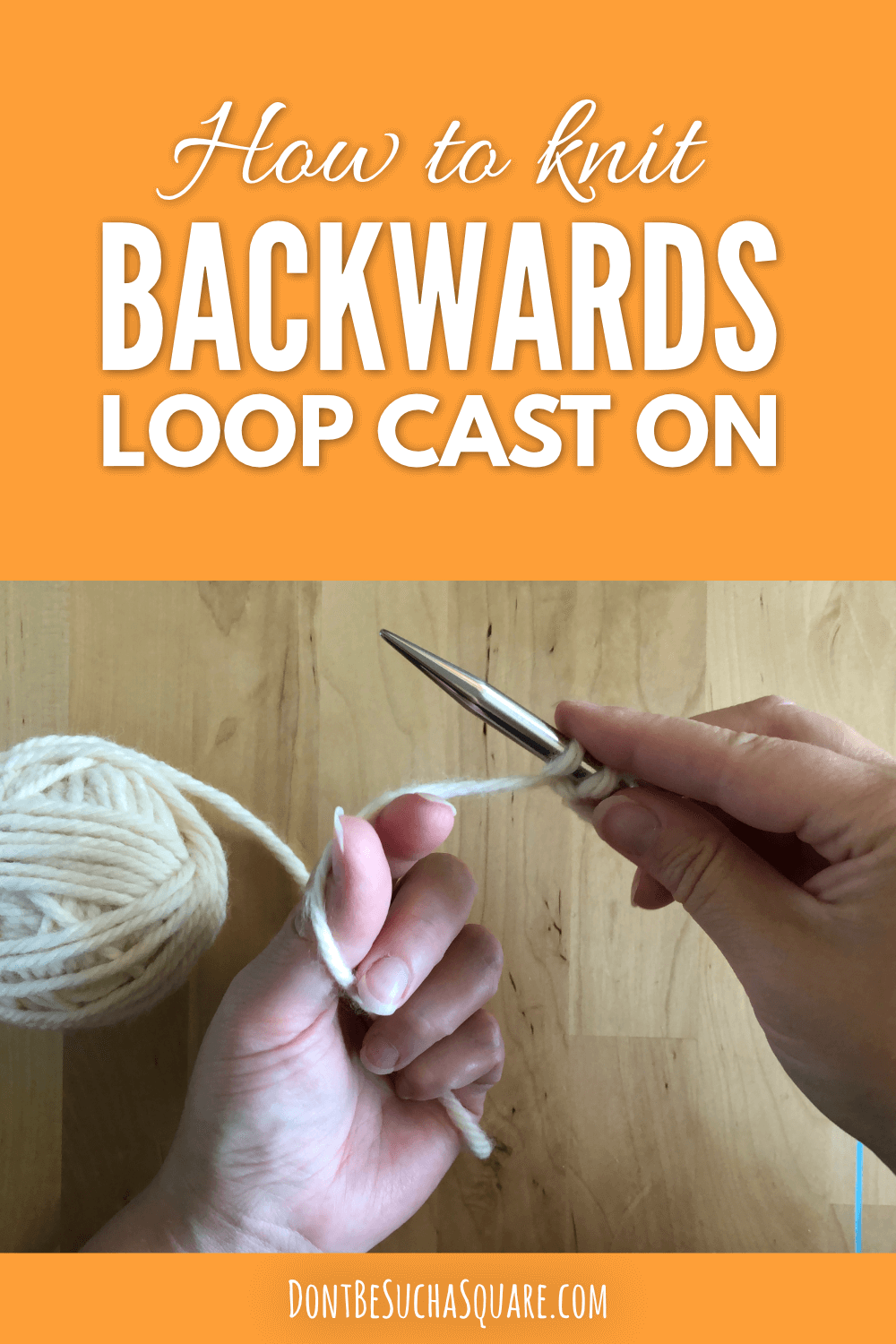 The backwards loop cast on is good both for starting a new project and for adding stitches in the middle of a row. And it's easy to make! #knitting #caston #backwardsloop #addingstitches
