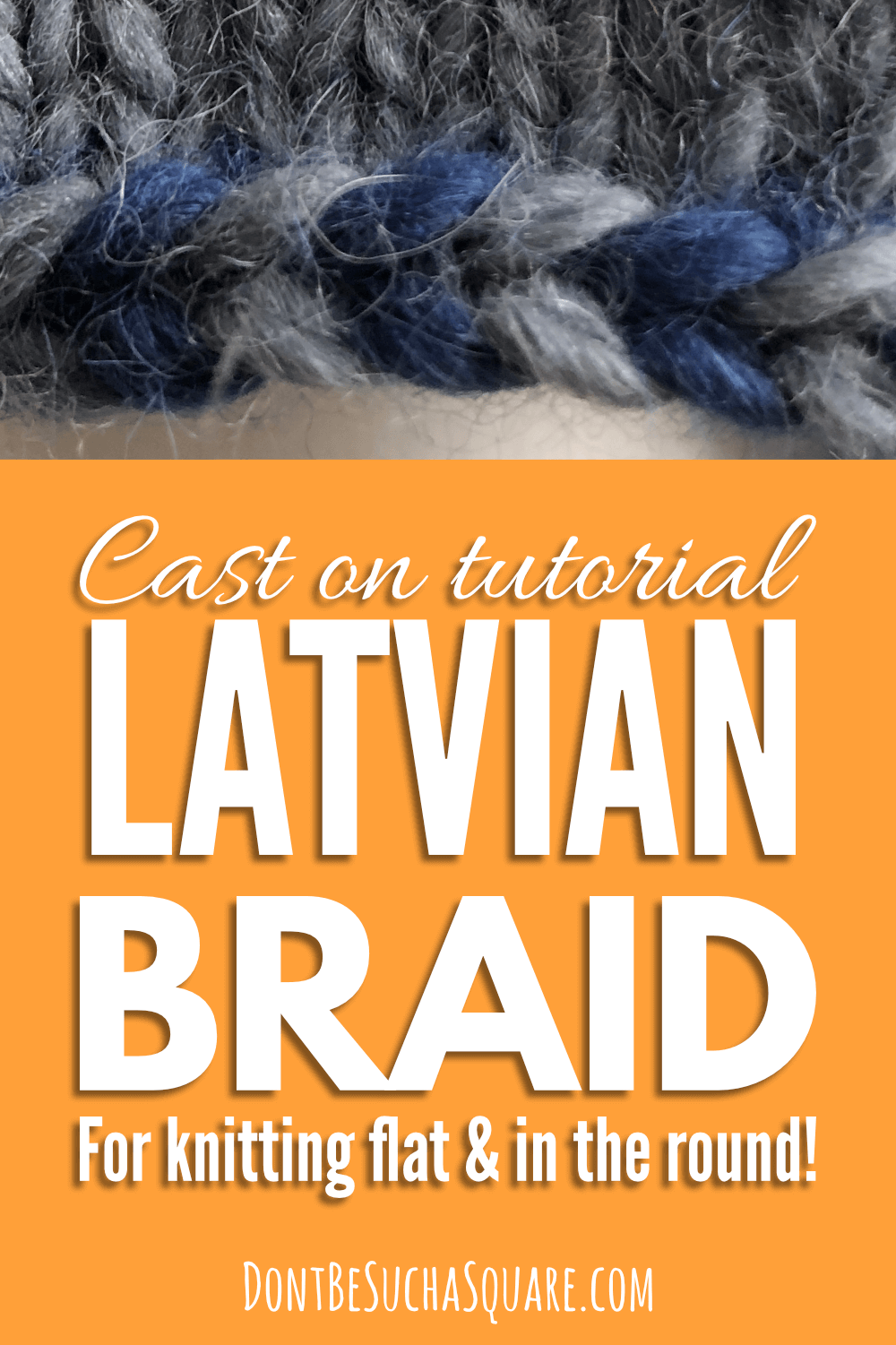 learn to knit the Latvian Braid cast on