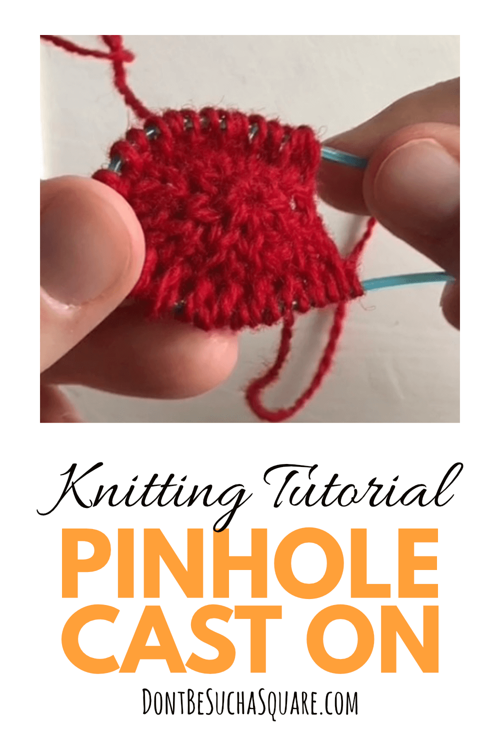 How to do the pinhole cast on for knititng from the centre and out